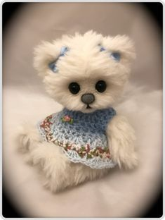The Creative Tedd Needle Felted Animals, Felt Animals, Tiny Teddies, Teddy Bear Pictures, Teddy Toys, Crochet Teddy, Bear Wallpaper, Tatty Teddy, Cute Teddy Bears
