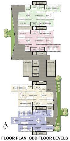 GA Designs Radical Shipping Container Skyscraper for Mumbai Slum,Odd Floor Plan. Image Courtesy of GA Design