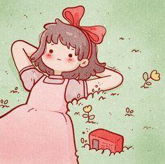Cute Anime Wallpaper, Wallpaper Iphone Cute, Cute Cartoon Wallpapers, Cute Little Drawings, Cute Kawaii Drawings, Cute Kawaii Girl, Kawaii Art, Studio Ghibli Movies, Cool Anime Girl