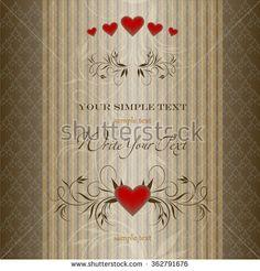 Vector invitation card. Happy Valentine Day. Elegant template for your design. Wedding card or invitation. - stock vector