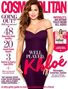 Television Personality, Model @ Khloe Kardashian - Cosmopolitan Australia, May 2015