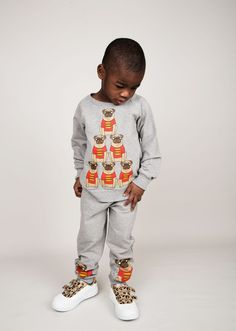 Mini Rodini: Pug sweatshirt and pants - kids fashion