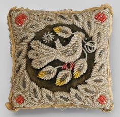 beadwork pincushion pillow