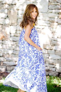 Sheridan French Melissa Dress in Blue Ikat