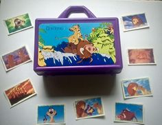 Lion King Sticker Box & Stickers ~ Vintage 1995 Coming Of Age, Baby Grows, Lion, Lunch Box, Childhood, Fandom, Stickers, Disney, Vintage