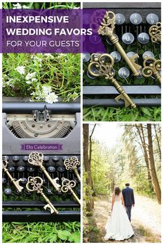 Make your wedding even more unique and memorable with these gorgeous vintage key bottle openers! This is likely a gift family and friends have not gotten anywhere else, and they will love the functionality of it. It's something they will keep and remember you by for years to come! Shop today and get FREE SHIPPING.    Rustic Wedding Favors for Guests   Simple DIY Party