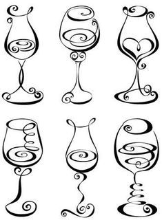 Stylized black and white wine glass Stock Vector glass crafts painted Stylized black and - Vine Ideas Wine Glass Drawing, Zentangle, Wine Tattoo, Wine Glass Tattoos, Schrift Tattoos, Friend Tattoos, Chalkboard Art, Pyrography, Doodle Art