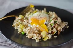 Wild Mushroom Risotto with Sous Vide Poached Egg