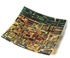 """My first """"real"""" glass piece, about 12 inches square"""