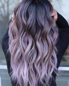 How do I get purple hair for this season? - How do I get purple hair for this season? You are in the right place about hair easy Here we offer - Hair Color Purple, Hair Dye Colors, Cool Hair Color, Pastel Ombre Hair, Silver Purple Hair, Ombre Hair Brunette, Silver Lavender Hair, Dyed Hair Ombre, Purple Wig