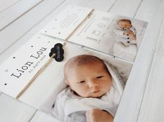 Birthannouncement - Babycard - Baby Boy - Geburtskarte - Geboortekaart - Geboortekaartje