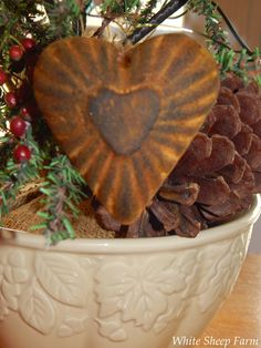 White Sheep Farm: Blackened Beeswax Ornaments Without The Crayons ...