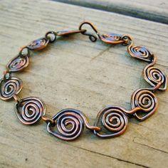 Copper Parade  antiqued copper bracelet by BearRunOriginals, $17.50