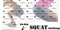 30 jours de squat ( faites la moitié de ce qui est demandé ceci est trop élevé )