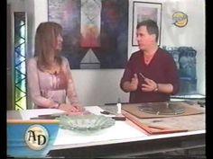 ▶ Vitrofusion - Miguel Diez - Glass Fusing - Programa Arte Estilo y Decoracion 6/7 - YouTube