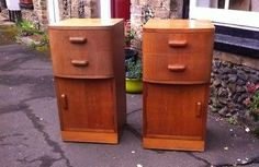 60'S 70'S Bedside Cabinets
