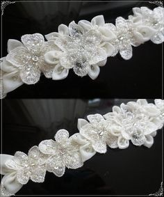 Your place to buy and sell all things handmade Bridal Sash Belt, Wedding Sash, Ivory Wedding, Bridal Lace, Wedding Dresses, Parts Of A Flower, Sash Belts, The Perfect Touch, Off White