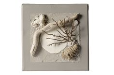 Tableau composition marine Nature 20 cm cendre - Coc'art Créations