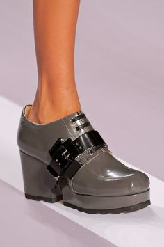 Viktor and rolf See Paris Fashion Week's Latest Runway Shoes: Shoe girls know the truth: the most exciting part of a runway show is checking out the heels, sandals, and boots the models wear down the runway.