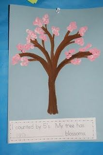 Math and Art! Skip-counting cherry blossom tree