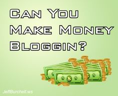 Can you make money blogging? That is a very common question and in this two minute video I will not only answer that question, but show you real life examples of people doing exactly that...