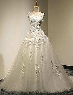High Quality wedding dress,Appliques Wedding Dress,Tulle Wedding dress,Ball Gown…