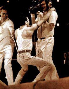 One lucky BBC cameraman.  Live Aid 1985