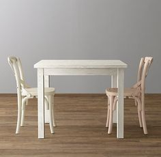 RH Baby & Child's Café Square Play Table:Simple, sturdy furniture offers ample space for projects real and imagined. Leather Dining Room Chairs, Outdoor Dining Chair Cushions, Round Back Dining Chairs, Dining Bench, Cafe Chairs, Table And Chairs, Tables, Snug Room, Baby Playroom