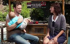 The Definitive Collection Of Joel McHale Gifs Joel Mchale, Motivational Images, Childfree, Holding Baby, Awkward Moments, Second Child, Funny Kids, Fun Funny, Funny Humor