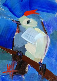 Ruby-Crowned Kinglet no. 12 by Angela Moulton  #Impressionism