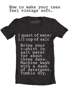How to make your tees feel vintage soft. + Hit Follow to support 'Magic 8 Ball'