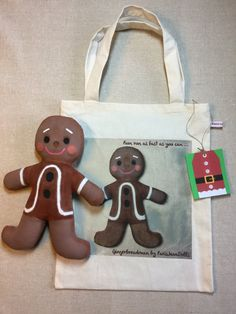 Gingerbreadman doll.  Christmas decoration for by ParisJavaDolls