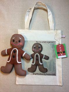 Gingerbreadman doll.  Christmas decoration for by ParisJavaDolls