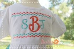 """Smoothie Smocked Font 1"""", 2"""", 3"""", and BX - Baby Kay's Appliques"""