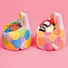 Milk Jug Storage - Also clear plastic over door shoe organizer for Barbies!!