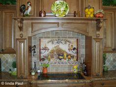 kitchen ideas with cafe murals   Italian Kitchen Backsplash - Tuscan design Mural
