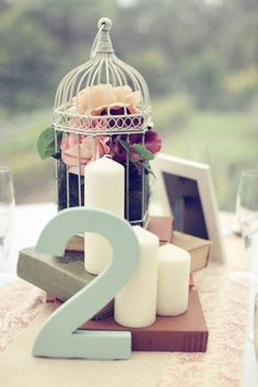 Inspiración DIY: Banderolas, libros, jaulas y rosas en tu boda