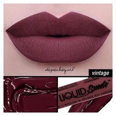 (178) NYX Cosmetics Liquid Suede Cream Lipstick in Vintage! |... ❤ liked on Polyvore featuring beauty products, makeup, lip makeup, lipstick, nyx lipstick and nyx