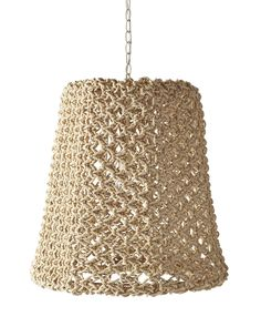 Serena & Lily Yountville Woven Abaca Pendant This lamp gets its texture from macramé – just like som