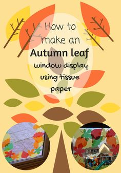 How to make an autumn leaf window display