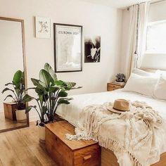 Plus de 49 idées de décoration de chambre à coucher dans un appartement, style Boho,  #appartement #chambre #coucher #decoration #idees #style
