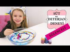 Süt ve Deterjan Deneyi / Eğlenceli Çocuk Videosu - YouTube