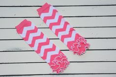 Pink chevron legwarmers