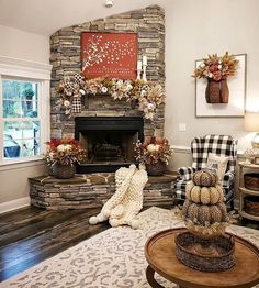 Now THIS is a Fall home! 🍁 We are in love with this decor! 🧡 What do you think? TAG a friend who will love this! Fall Living Room, Living Room Decor, Cozy Living, Fall Bedroom, Fall Home Decor, Autumn Home, Autumn Decorating, Decorating Ideas, Decor Ideas