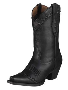 NEW ARIAT WOMENS STYLE 10001367 DIXIE BLACK DEER TAN WESTERN FASHION BOOTS #Ariat #CowboyWestern