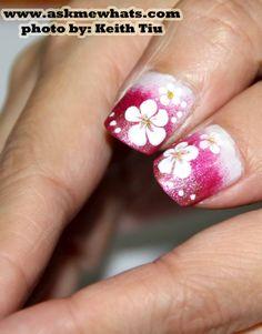Askmewhats: Nail Art Tutorial: Gradient Nails with Hawaiian Feel