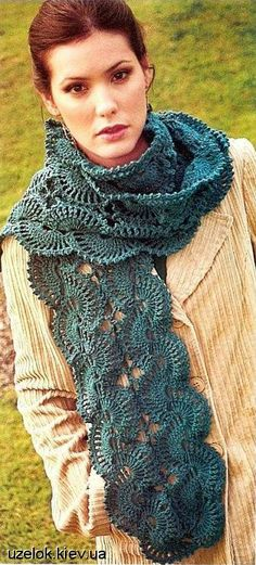 Bee-u-ti-ful Scarf: chart, (translation needed for pattern instructions)