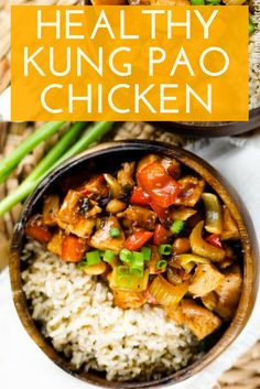 This Healthy Kung Pao Chicken is the lightened-up version of the sweet & spice Asian that everybody loves! It's a quick & easy dinner recipe, low-calorie, dairy-free, paleo & gluten-free! Put down the takeout menu and make this hearty meal yourself, you and your family are sure to love it.