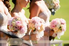 Bridesmaids bouquets from Poppy & Willow, still looking so fresh in the scorching Perth summer sun!