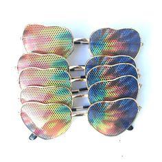 726fe47375 Bulk deal tie dye hippie festival graphic aviator party heart Heart Shaped  Sunglasses, Cool Sunglasses